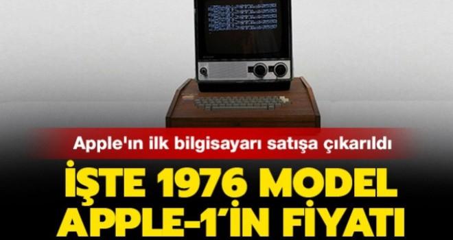 Apple'ın ilk bilgisayarı satışta! İşte fiyatı...