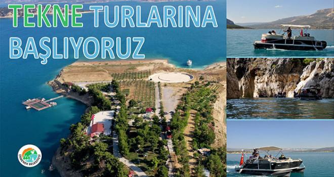 Turkuaz Mesı̇re Alanında Tekne Turları Başlıyor