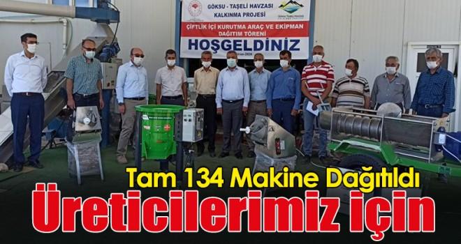 Taşelinde Üreticiler İçin 134 Makine Dağıtıldı
