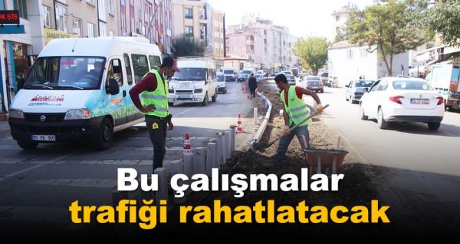 Karaman'da trafiği rahatlatacak çalışmalar sürüyor