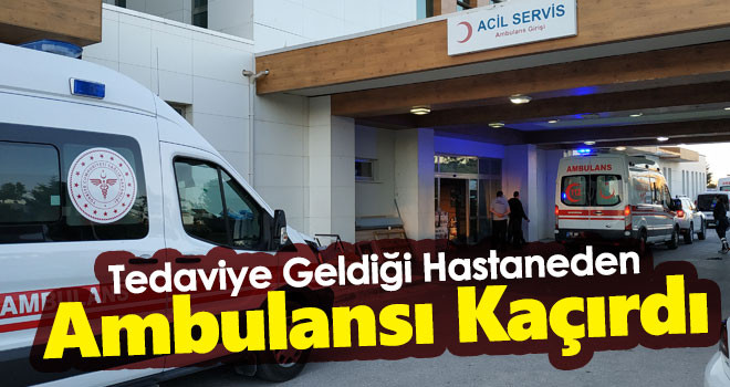 Alkollü Şahıs Hastane Önündeki Ambulansı Kaçırırken Yakalandı