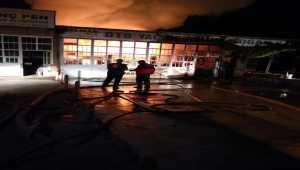 Akşehir'de sanayide bir iş yerindeki yangın hasara neden oldu