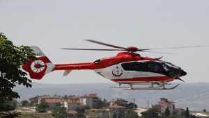 Beypazarı'nda hava ambulansı 3 aylık bebek için havalandı