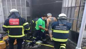 Eskişehir'de depo yangını