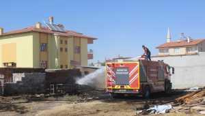 Karapınar'da bahçe yangını