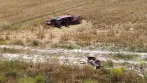 Kayseri'deki otomobil devrildi: 5 yaralı