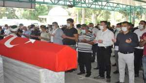 Kaza kurşunuyla ölen astsubay toprağa verildi