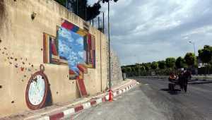 Suriye sınırındaki ilçenin sokakları Yakup öğretmenin çizimleriyle renklendi