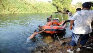 Antalya'da kanalda kaybolan genci arama çalışmalarında gerginlik