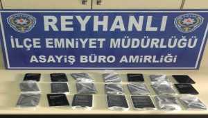 Hatay'da 21 gümrük kaçağı cep telefonu ele geçirildi