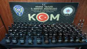 Adana'da 897 litre sahte içki ele geçirildi