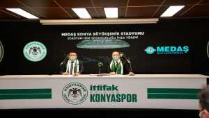 Konyaspor'un yeni stadyum sponsoru MEDAŞ oldu