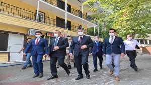 Osmaniye Valisi Yılmaz'dan, Haruniye Kaplıcaları'nda inceleme