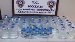 Adana'da 259 litre kaçak içki ele geçirildi