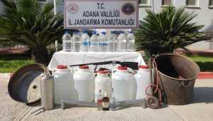 Adana'da 334 litre sahte içki ele geçirildi