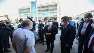 Altındağ'da iş yerlerinde Kovid-19 tedbirleri denetlendi