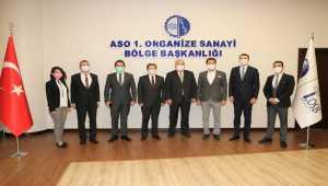 Belarus'un Ankara Büyükelçisi Viktor Rybak ASO 1. OSB'yi ziyaret etti
