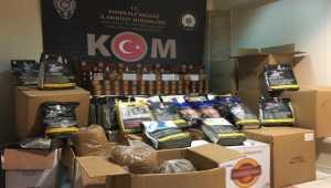 Kırıkkale'de 198 kilogram kaçak tütün ve 20 bin makaron ele geçirildi