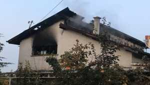 Konya'da yanan ev kullanılamaz hale geldi