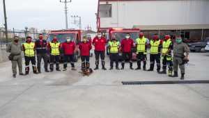 Mersin'den İzmir'e destek ekibi gönderildi