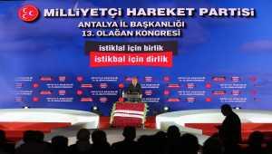 MHP Genel Başkan Yardımcısı Yalçın partisinin Antalya İl Kongresi'nde konuştu: