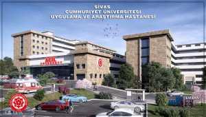Sivas'ta üniversite hastanesi inşaatı hızla yükseliyor