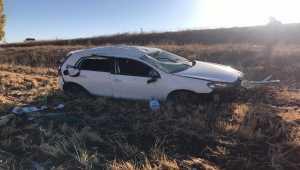 Sivas'ta otomobil devrildi: 1 ölü, 5 yaralı