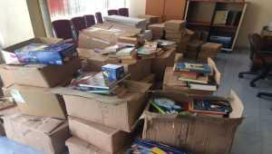 Ulaş'ta Muhtarlar Derneğinden öğrencilere kırtasiye desteği