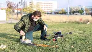 Üniversite öğrencisi, fidan dikimi için drone tasarladı
