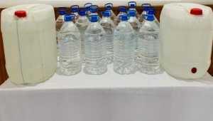 Adana'da 140 litre sahte içki ele geçirildi