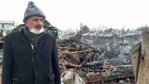 Beypazarı'nda evleri yanan ailelere Uruşlular Derneğinden ziyaret