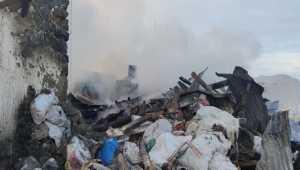 Çankırı'da çıkan yangında bir ev kullanılamaz hale geldi