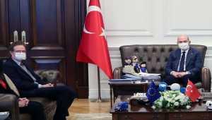 İçişleri Bakanı Soylu, AB Türkiye Delegasyonu Başkanı Büyükelçi Meyer-Landrut'u kabul etti