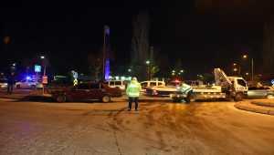 Kayseri'de otomobil sivil polis aracına çarptı: 1 yaralı
