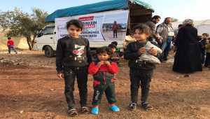 Kayseri'den gönderilen 4 bin 500 bot Kilis'teki kamplarda yaşayan çocukların ayağını ısıttı