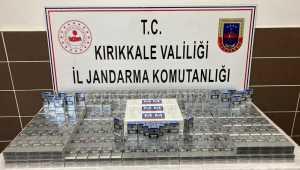 Kırıkkale'de yem taşıyan araçta kaçak sigara ele geçirildi