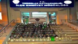 Mersin'de 537 litre sahte içki ele geçirildi