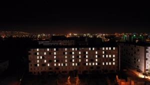 Antalya'da yurtlarda kalan öğrencilerden Filistin'e destek