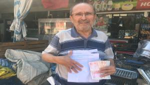 Antalya'da bir kişi yıllar önce bakkaldan izinsiz aldığı ürünlerin parasını gizlice bırakarak