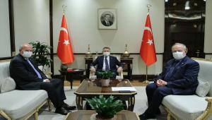 Cumhurbaşkanı Yardımcısı Oktay, ATO Başkanı Baran ile ASO Başkanı Özdebir'i kabul etti
