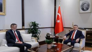 Cumhurbaşkanı Yardımcısı Oktay, Cumhurbaşkanlığı Finans Ofisi Başkanı Aşan'ı kabul etti