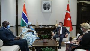 Cumhurbaşkanı Yardımcısı Oktay, Gambia Cumhurbaşkanı Yardımcısı Touray ile görüştü
