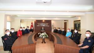 Jandarma Teşkilatının 182. kuruluş yıl dönümü dolayısıyla Antalya Valisi Yazıcı'ya ziyaret