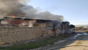 Sivas'ta evde çıkan yangında 1 kişi yaralandı