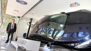 Suşehri'nde emniyet kemerinin önemi mobil simülasyon aracı ile anlatıldı
