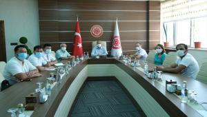 Azerbaycan ve Kazakistan'dan akademisyenler, Sivas Cumhuriyet Üniversitesini ziyaret etti