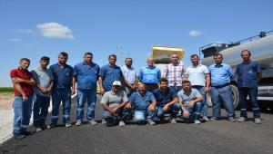 Çumra'da asfaltlama çalışmaları devam ediyor