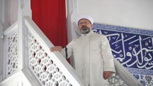 Diyanet İşleri Başkanı Erbaş, Manavgat Külliye Camisi'nde hutbe irat etti: