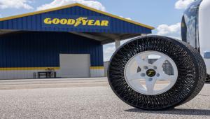 Goodyear'ın havasız lastikleri ilk olarak otonom toplu taşıma araçlarda kullanılacak
