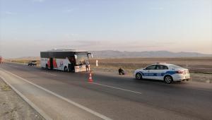 Kontrolden çıkan yolcu otobüsündeki 5 yolcu yaralandı